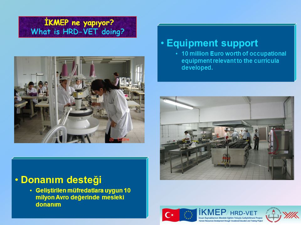 Equipment support Donanım desteği İKMEP ne yapıyor