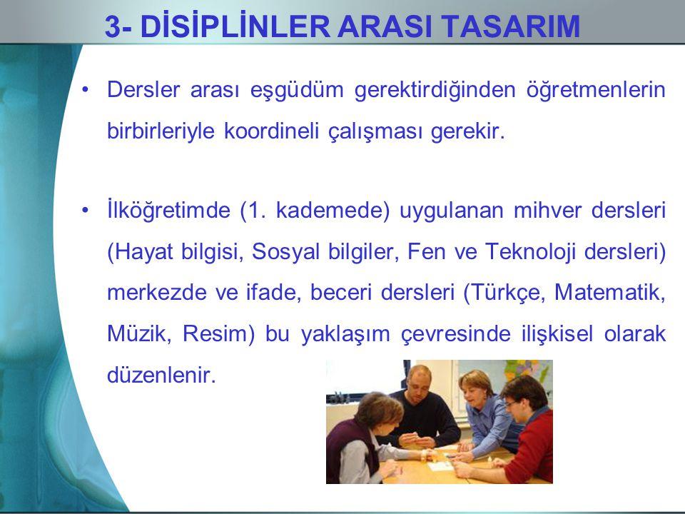 3- DİSİPLİNLER ARASI TASARIM