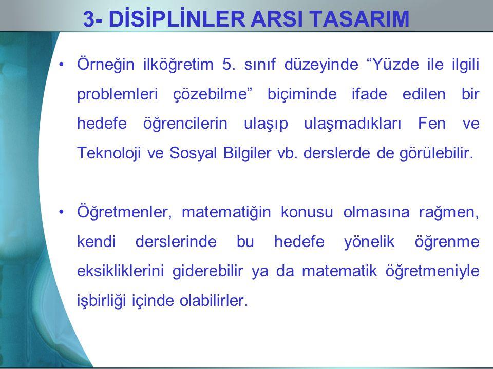 3- DİSİPLİNLER ARSI TASARIM