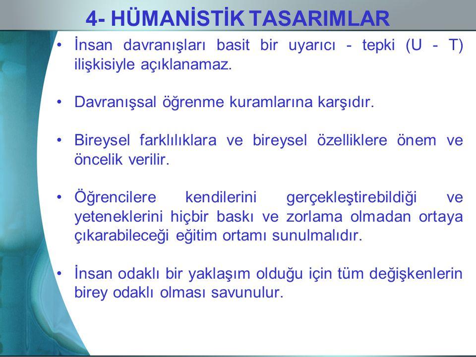 4- HÜMANİSTİK TASARIMLAR