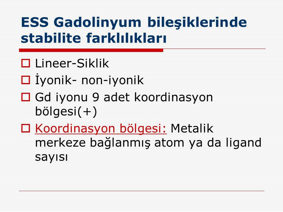 ESS Gadolinyum bileşiklerinde stabilite farklılıkları