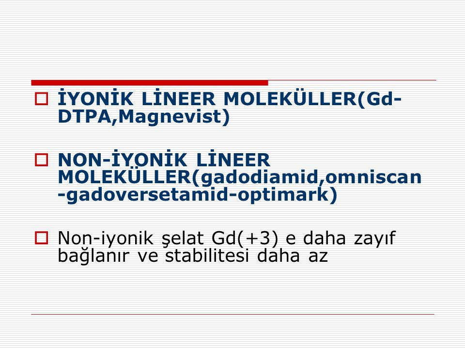 İYONİK LİNEER MOLEKÜLLER(Gd-DTPA,Magnevist)