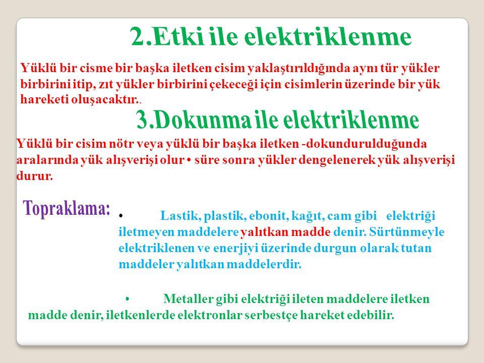 2.Etki ile elektriklenme