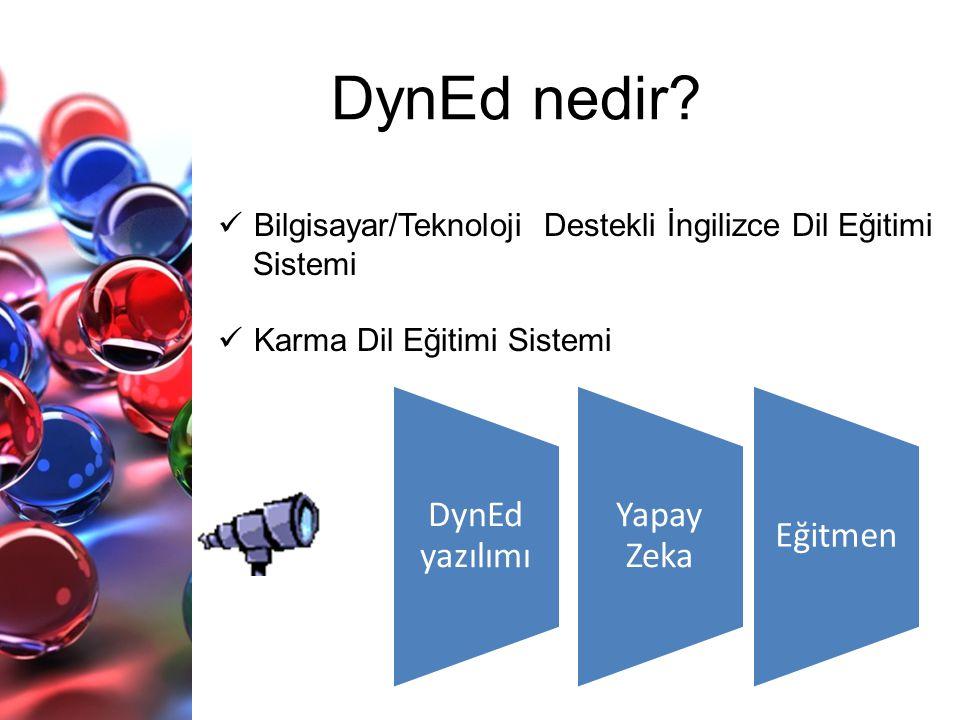 DynEd nedir DynEd yazılımı Yapay Zeka Eğitmen