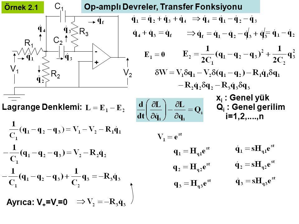 Op-amplı Devreler, Transfer Fonksiyonu
