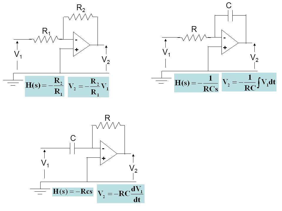 C - + V1 V2 R V2 R2 - + V1 R1 R - + V1 V2 C