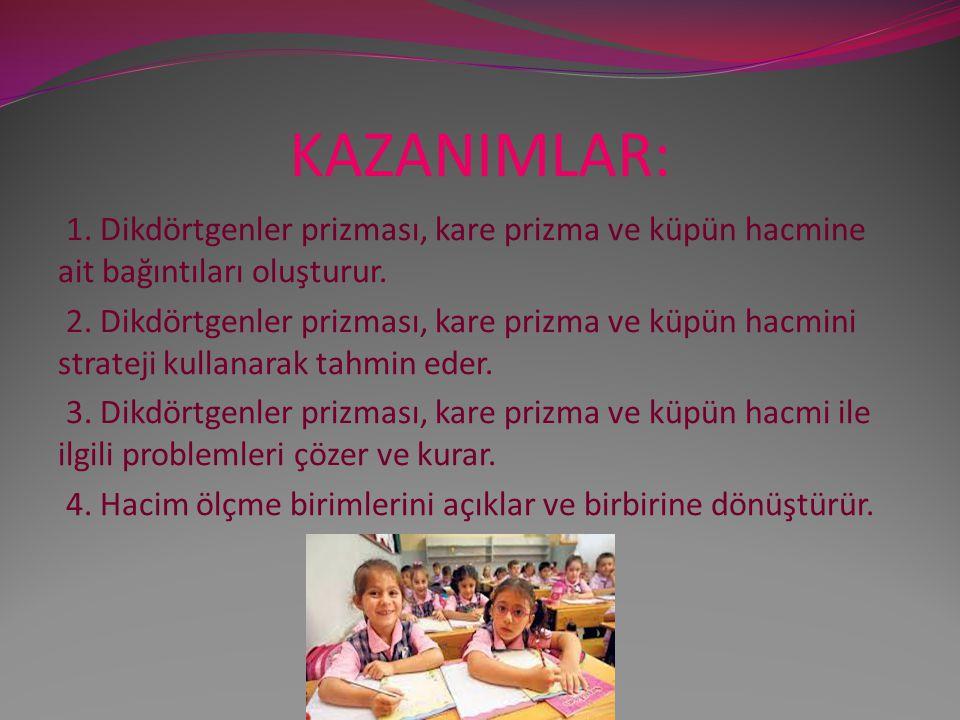 KAZANIMLAR: