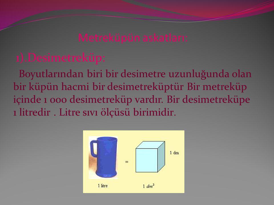 Metreküpün askatları: