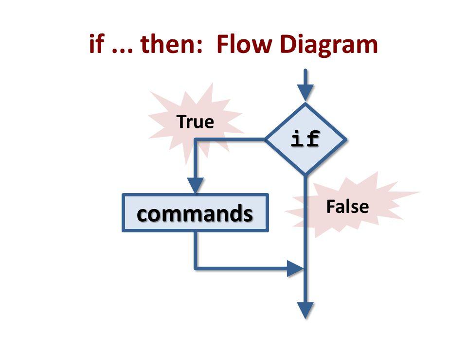 if ... then: Flow Diagram if commands True False