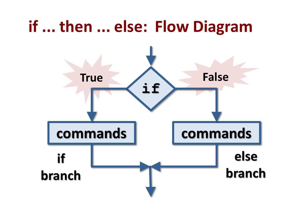 if ... then ... else: Flow Diagram