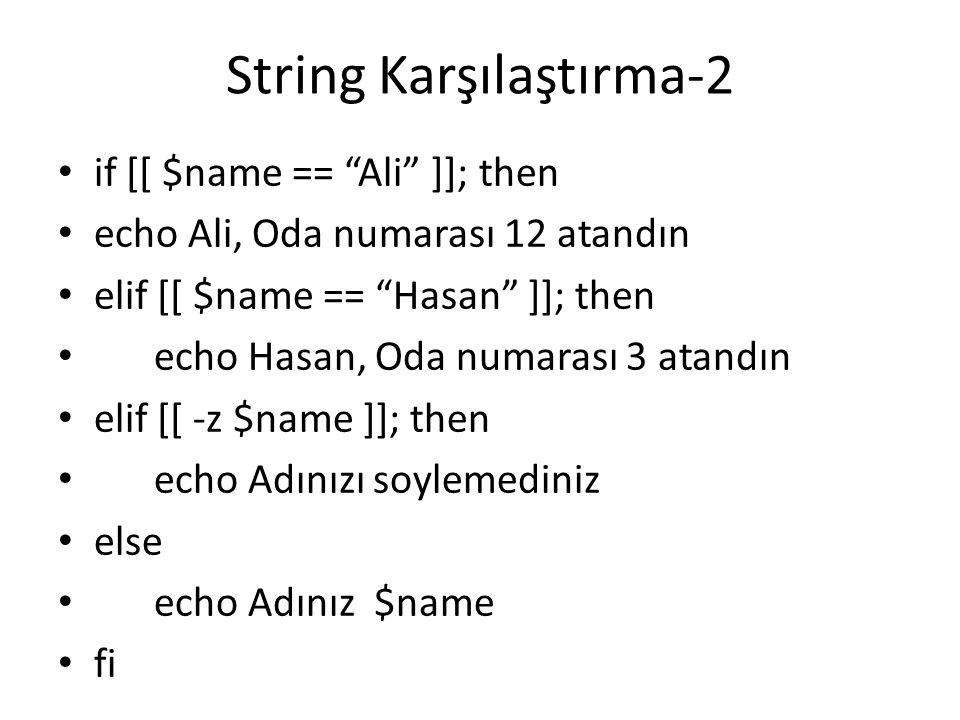 String Karşılaştırma-2