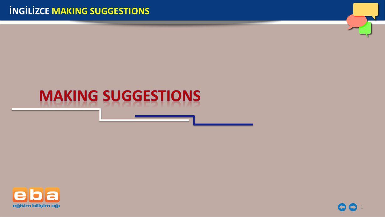İNGİLİZCE MAKING SUGGESTIONS