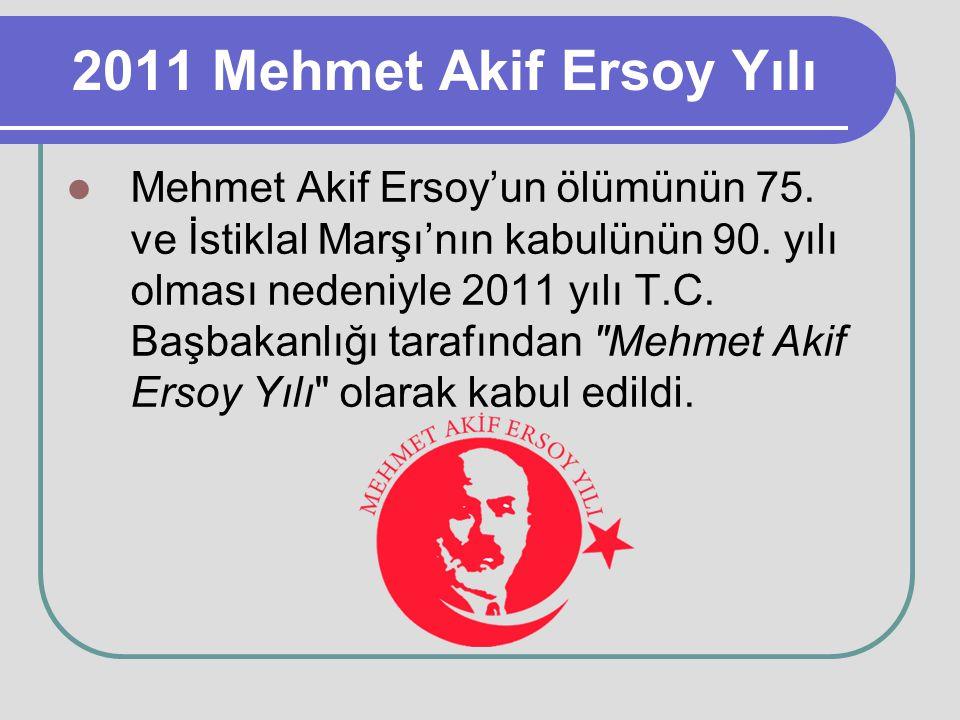 2011 Mehmet Akif Ersoy Yılı