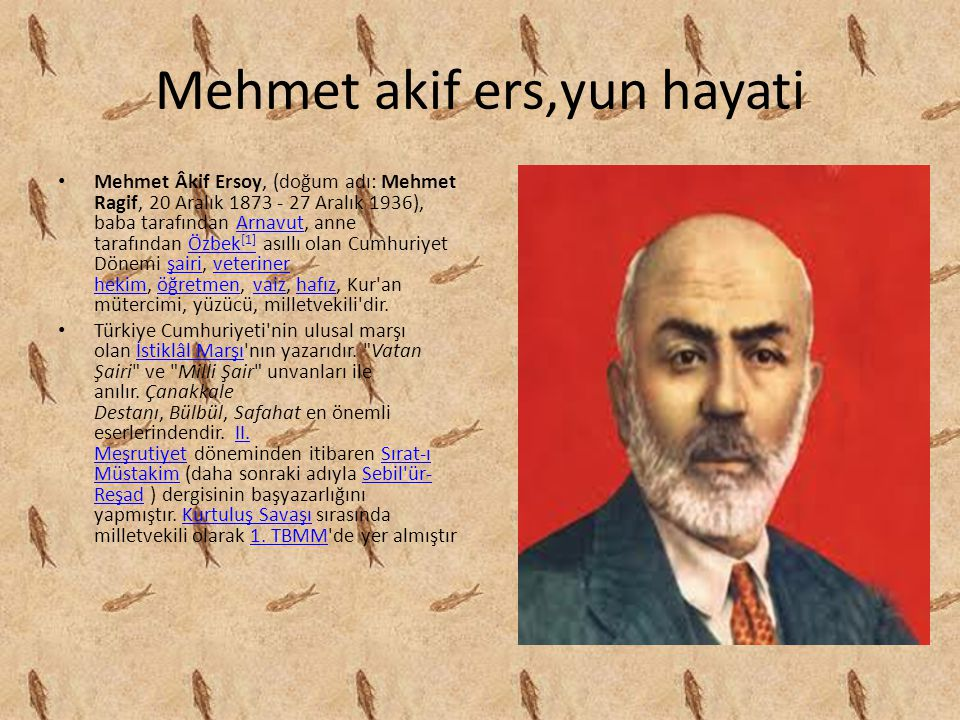 Mehmet akif ers,yun hayati