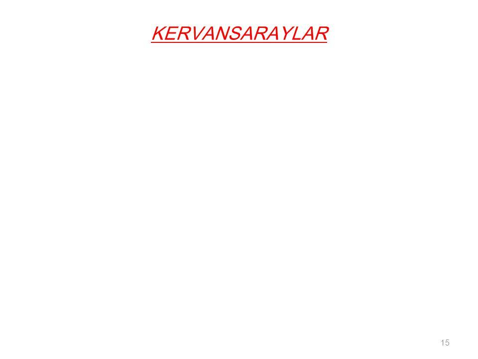 KERVANSARAYLAR