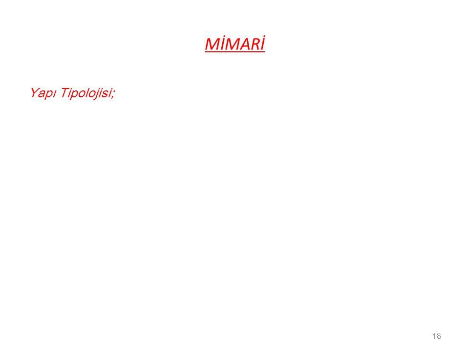 MİMARİ Yapı Tipolojisi;