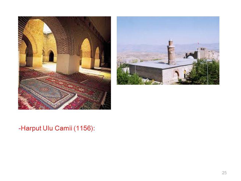 -Harput Ulu Camii (1156):
