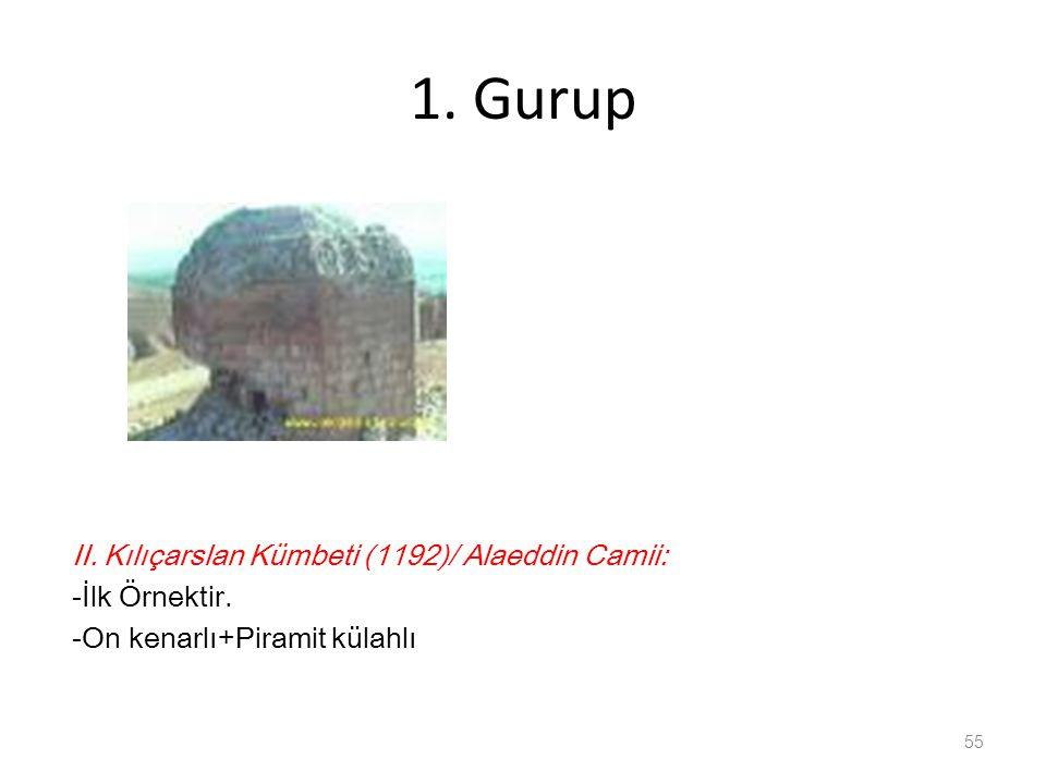 1. Gurup II. Kılıçarslan Kümbeti (1192)/ Alaeddin Camii: