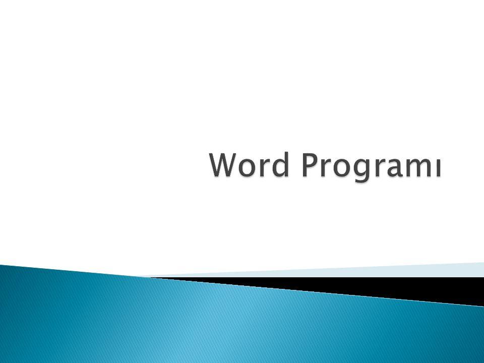 Word Programı