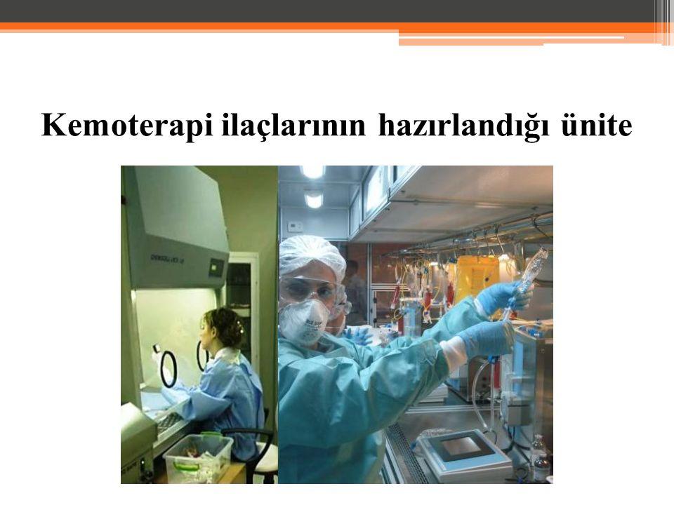 Kemoterapi ilaçlarının hazırlandığı ünite