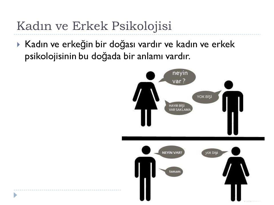 Kadın ve Erkek Psikolojisi