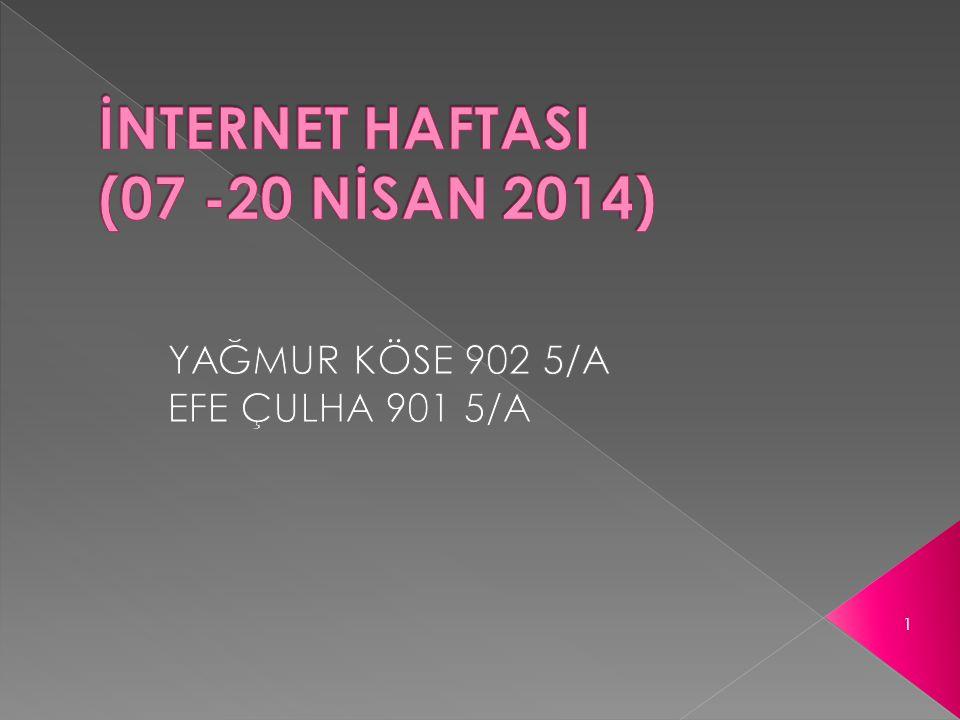 İNTERNET HAFTASI (07 -20 NİSAN 2014)