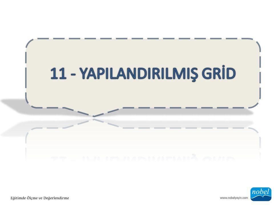 11 - YAPILANDIRILMIŞ GRİD