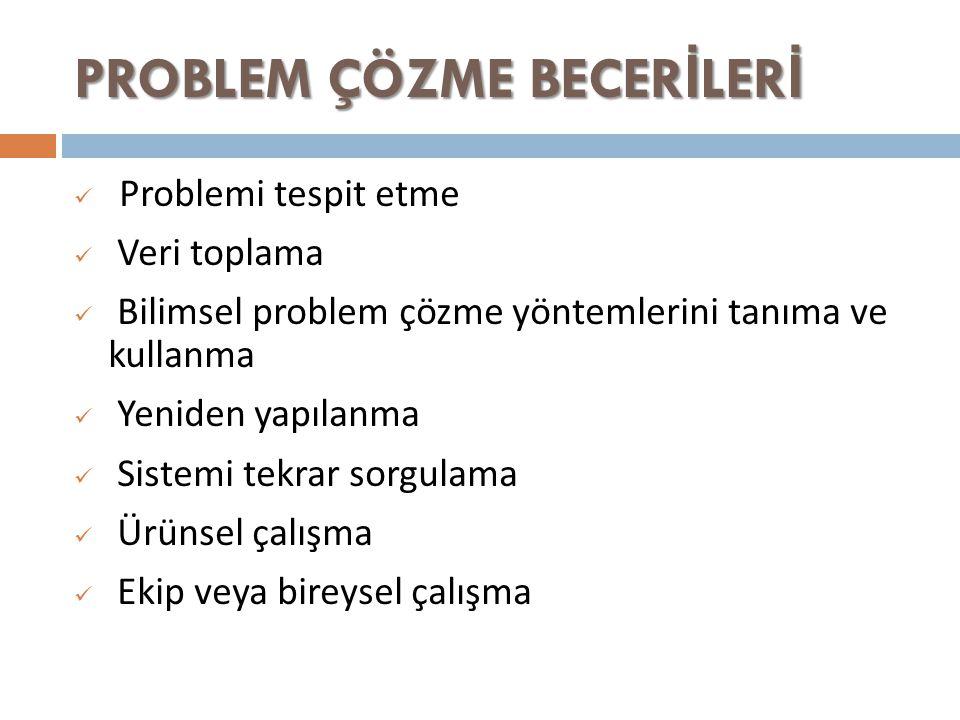 PROBLEM ÇÖZME BECERİLERİ
