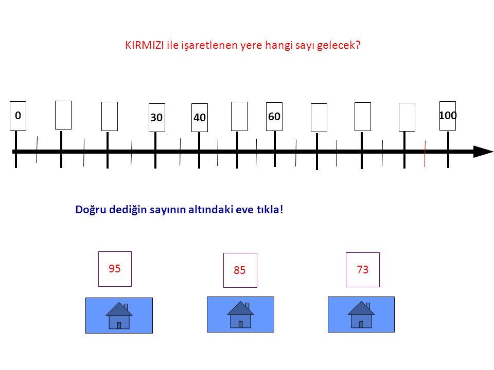 KIRMIZI ile işaretlenen yere hangi sayı gelecek