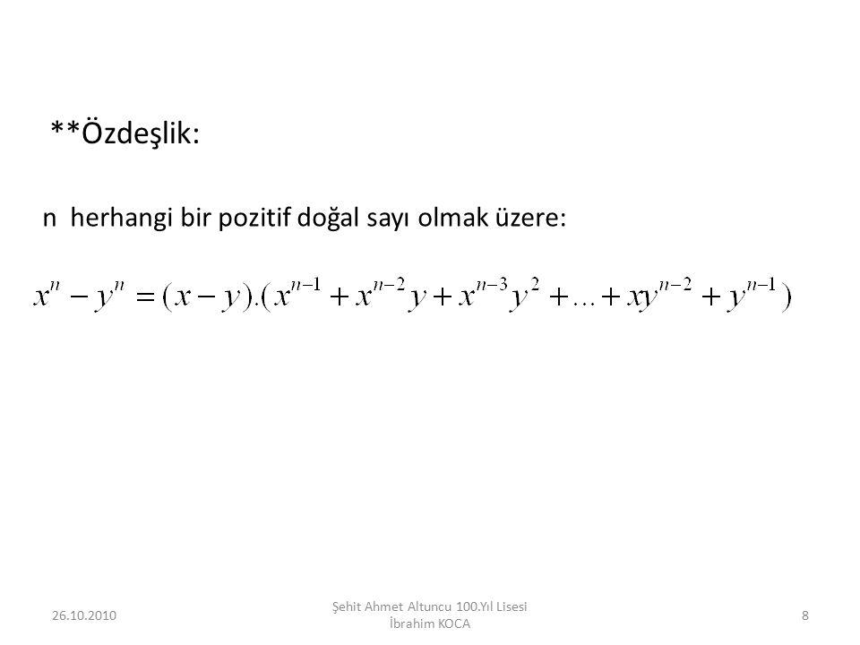 Şehit Ahmet Altuncu 100.Yıl Lisesi İbrahim KOCA