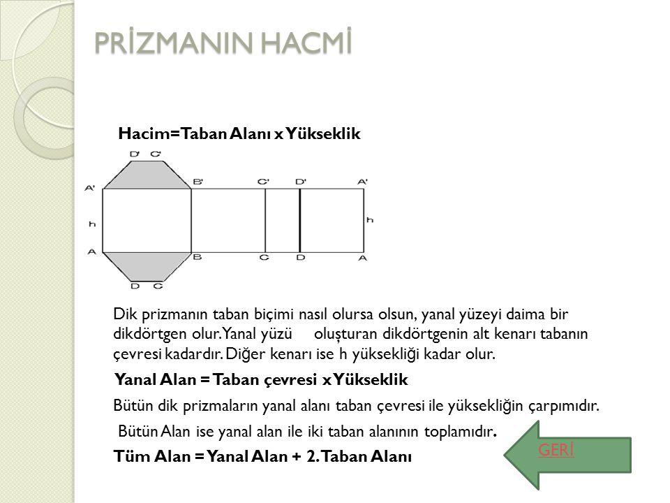 PRİZMANIN HACMİ