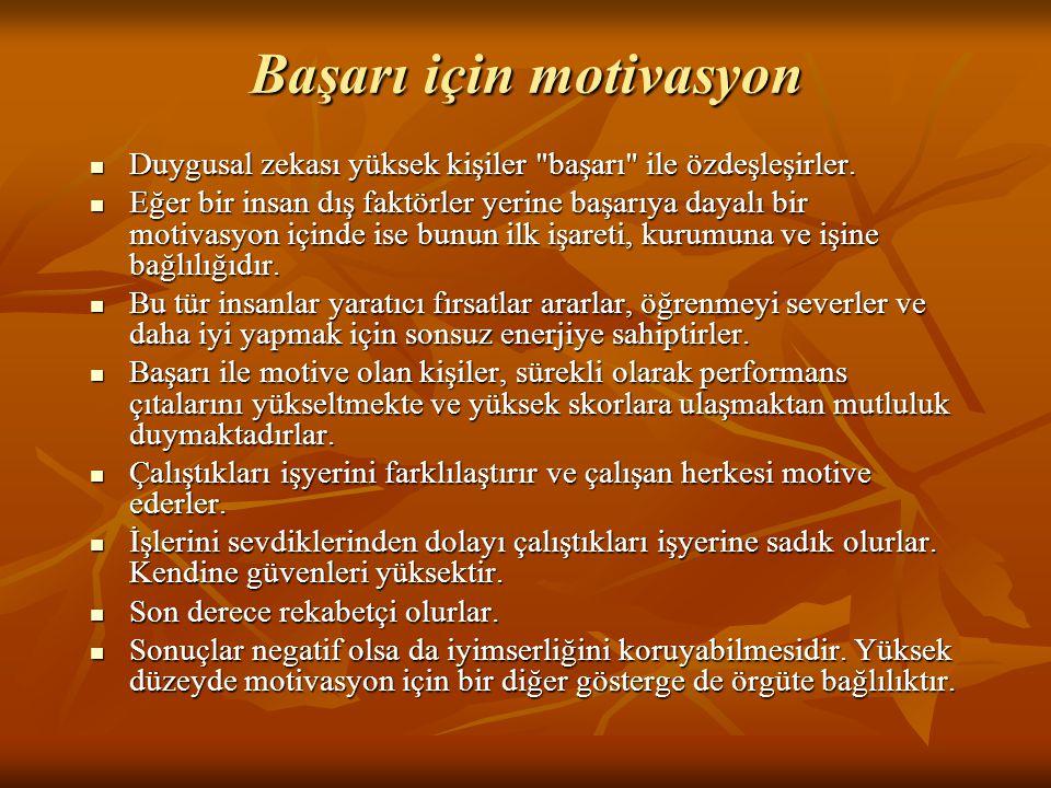 Başarı için motivasyon