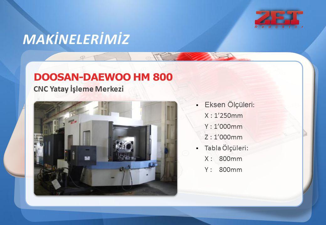 MAKİNELERİMİZ DOOSAN-DAEWOO HM 800 CNC Yatay İşleme Merkezi