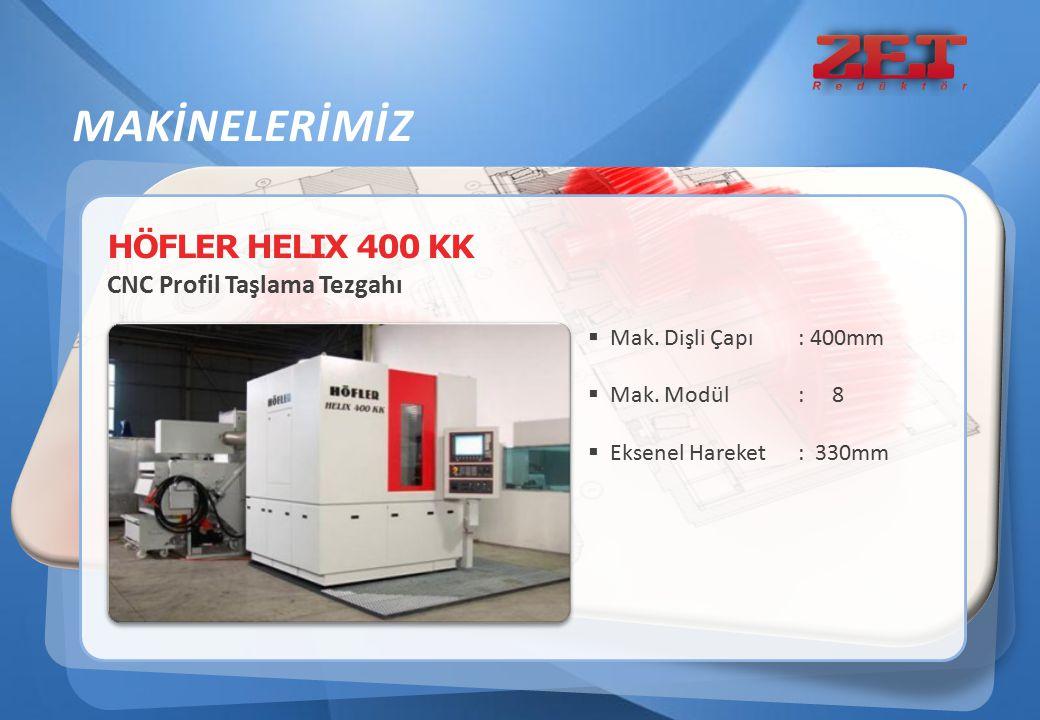 MAKİNELERİMİZ HÖFLER HELIX 400 KK CNC Profil Taşlama Tezgahı