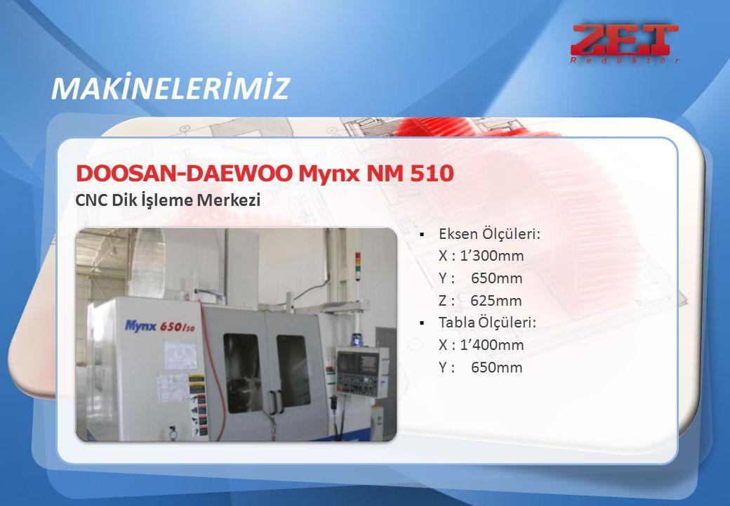MAKİNELERİMİZ DOOSAN-DAEWOO Mynx NM 510 CNC Dik İşleme Merkezi