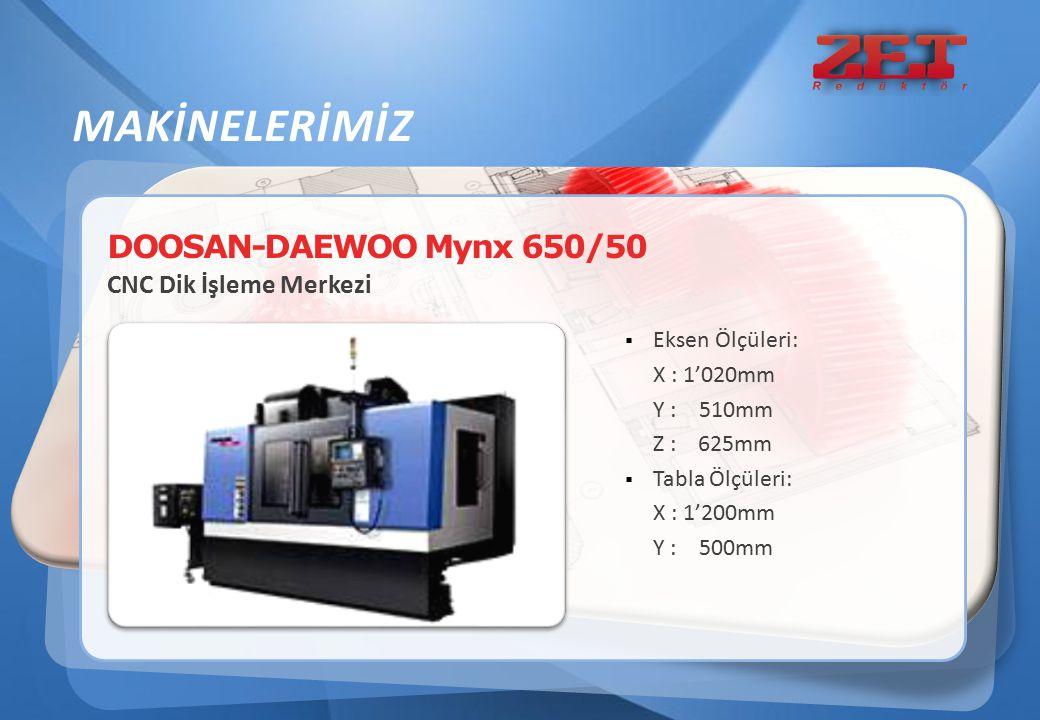 MAKİNELERİMİZ DOOSAN-DAEWOO Mynx 650/50 CNC Dik İşleme Merkezi