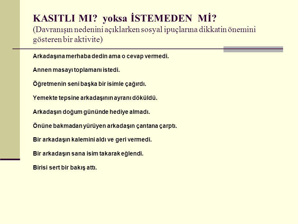 KASITLI MI. yoksa İSTEMEDEN Mİ
