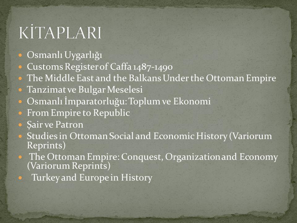 KİTAPLARI Osmanlı Uygarlığı Customs Register of Caffa 1487-1490