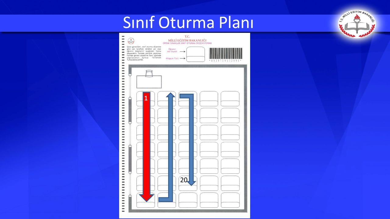 Sınıf Oturma Planı 1