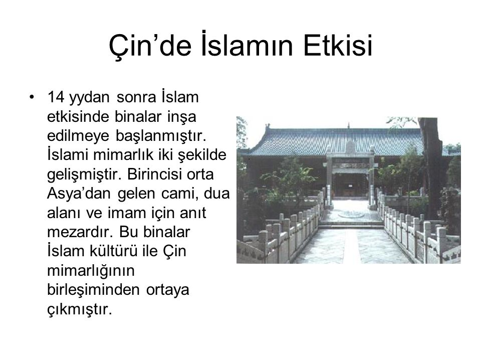 Çin'de İslamın Etkisi
