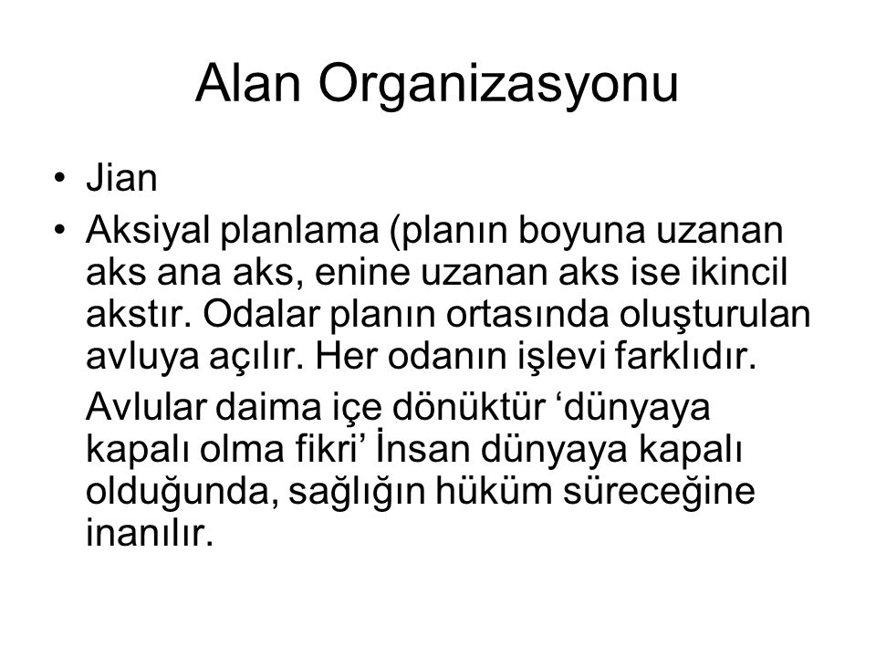 Alan Organizasyonu Jian