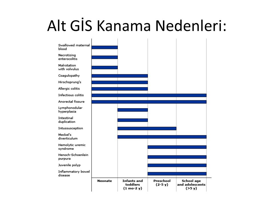 Alt GİS Kanama Nedenleri: