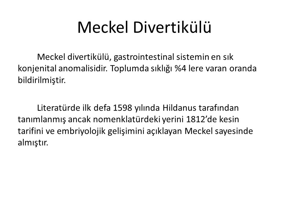 Meckel Divertikülü
