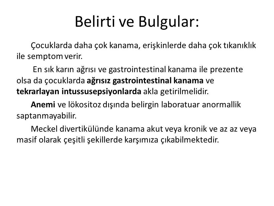 Belirti ve Bulgular: