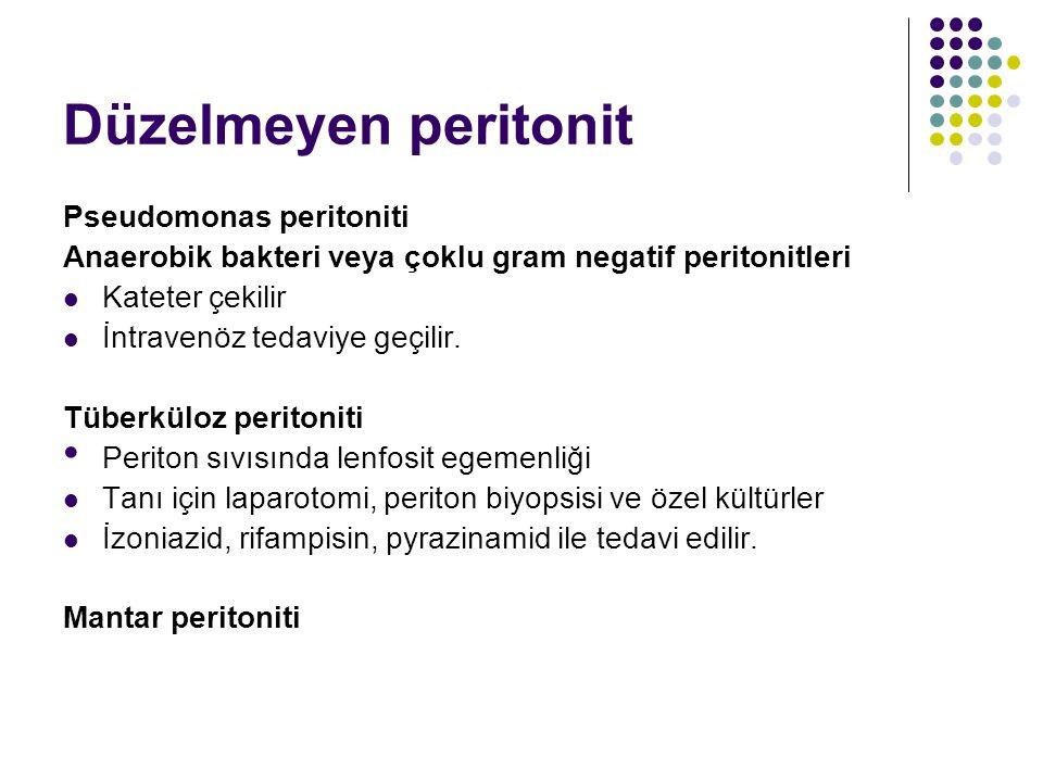 Düzelmeyen peritonit Pseudomonas peritoniti