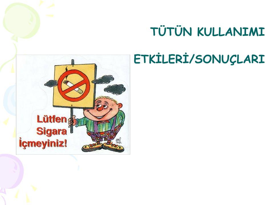 TÜTÜN KULLANIMI ETKİLERİ/SONUÇLARI