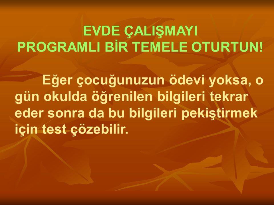 PROGRAMLI BİR TEMELE OTURTUN!