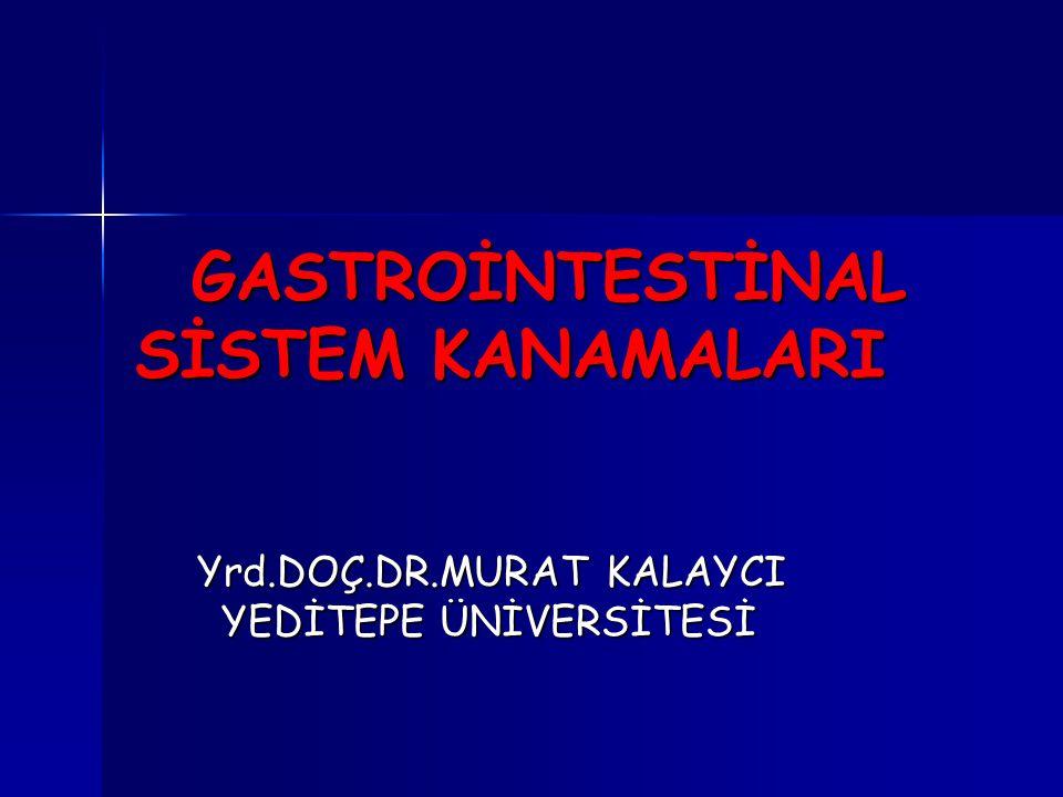 GASTROİNTESTİNAL SİSTEM KANAMALARI