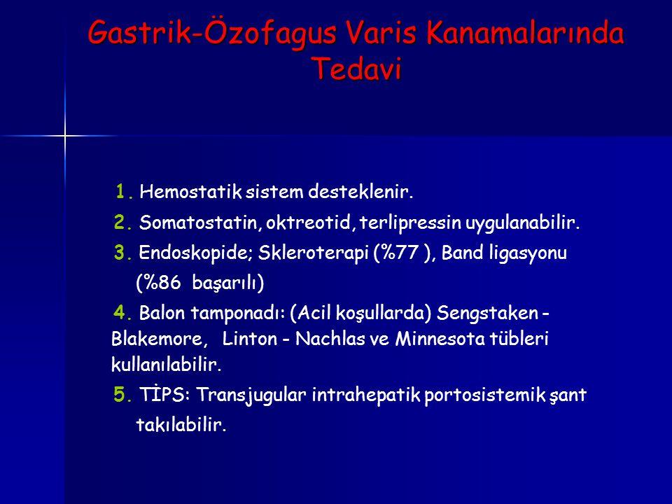 Gastrik-Özofagus Varis Kanamalarında Tedavi