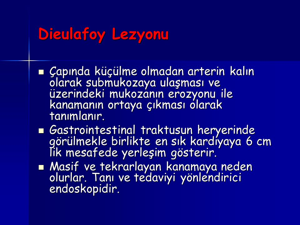 Dieulafoy Lezyonu
